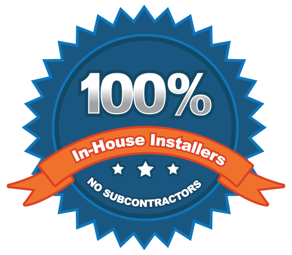 100 percent in house Installers badge - Energy Shield Window and Door Company Arizona
