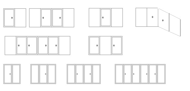 Different Type of Sliding Doors Configuration